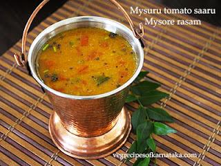 Mysuru tomato saaru recipe in Kannada