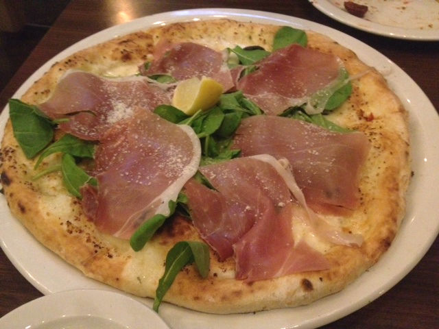 Proscuitto and Arugula Pizza