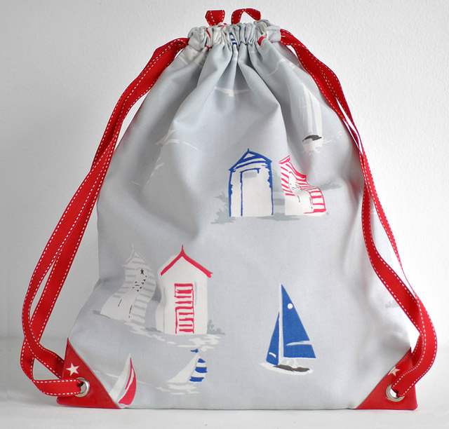 Drawstring Backpack Sewing Tutorial. How-to step by step