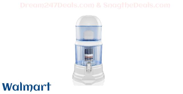 LeDoux Waters Water Filter 64Cup Countertop Water Filter Dispenser