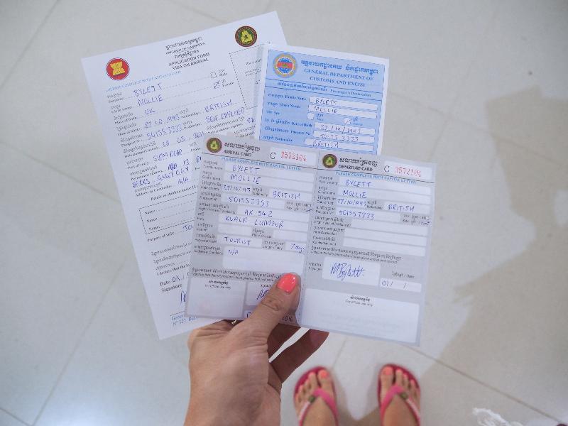 Arriving in Cambodia