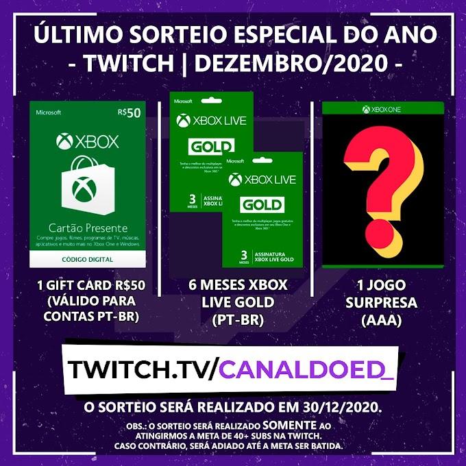 Sorteio Pacote Xbox:  Jogo + Gift Card e Mais