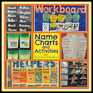 Name charts and activities from rainbows within reach