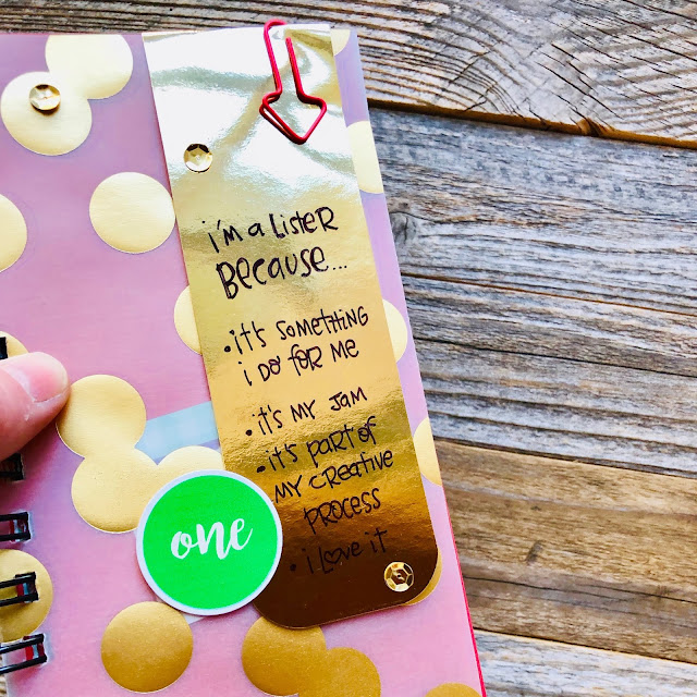 #gold polka dots #polka dot #vellum #junk journaling #sequin #30 Days Of Lists #30lists #lists #junk journaling