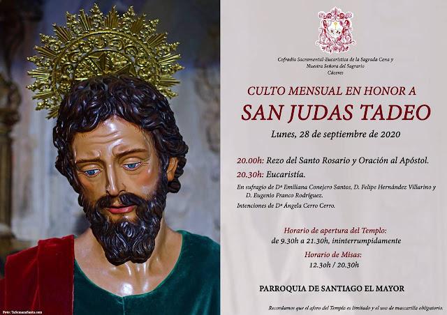 28 de septiembre, cultos a San Judas Tadeo