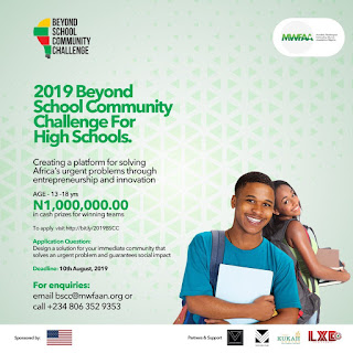 MWFAAN Beyond School Community Challenge 2019 | Sec. Schools