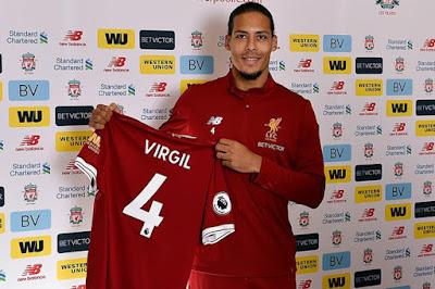 """Liverpool giữ """"siêu hậu vệ"""" Van Dijk với mức lương kỷ lục, vượt cả Salah"""