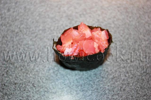 рецепт гункан-суши с пошаговыми фото
