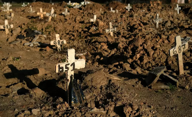 Brasil tem 3.472 mortes por Covid-19 nas últimas 24 h e supera 380 mil óbitos