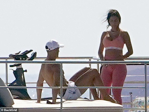 Ronaldo & Rodriguez, 26 Soaking up the sun in good spirits, relaxed on his yacht in Italy.