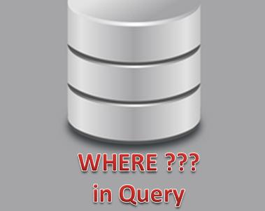 WHERE in QUERY SQL