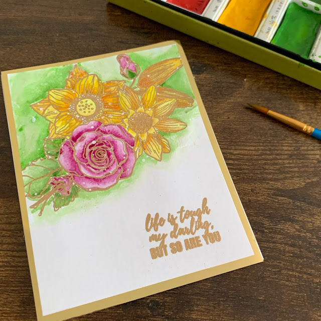 watercolor_stamped_handmade_card_floral