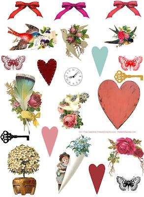 free printable victorian vintage clip art designs diy valentines valentine's