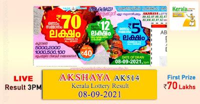 kerala-lottery-result-08-09-2021-akshaya-lottery-results-ak-514-keralalotteriesresults.in