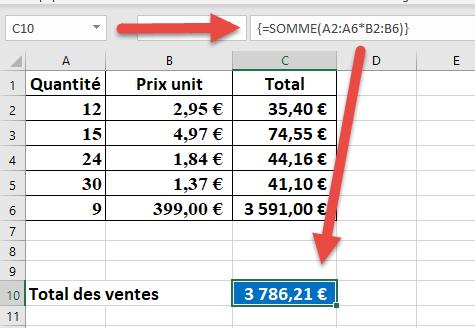 La Formule Matricielle Dynamique Formation Excel