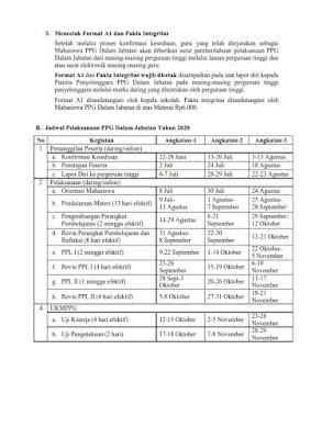 Informasi Pelaksanaan PPG Dalam Jabatan Tahun 2020