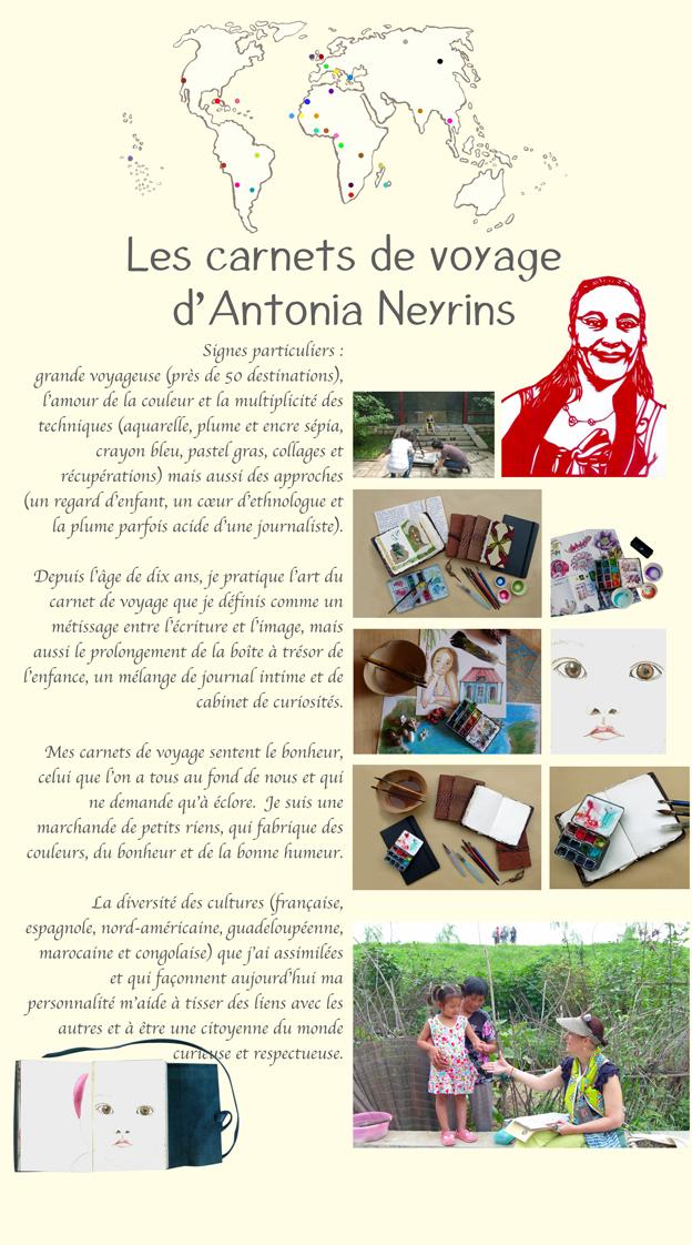 pat masioni exposition carnet carnets de voyage antonia neyrins rencontre atelier scolaire stage