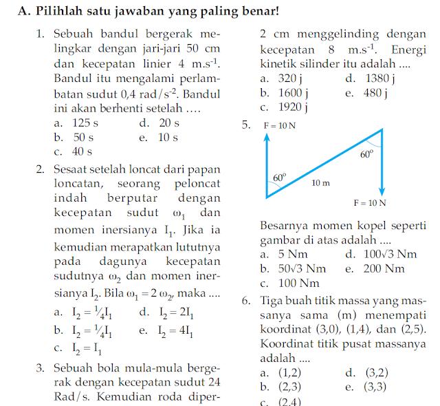 Soal UKK / UAS Fisika Kelas X XI Semester 2 (Genap)
