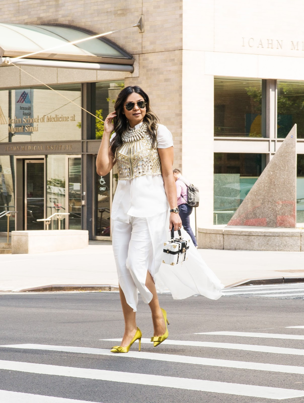 fusion wear, indian blogger, nyfw, sonar kapoor inspired, dhoti outfit, mirror vest, hi low hem, style , street style, myriad musings