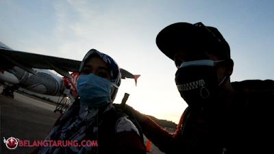 Selfie Bersama Kapal Terbang Airasia