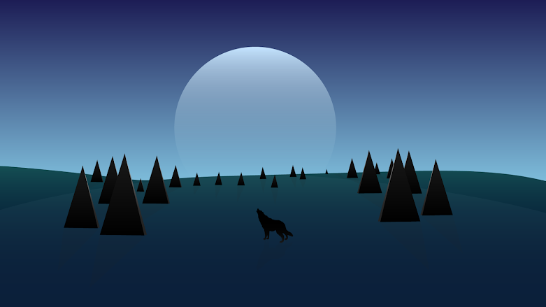 beautiful-desktop-wallpaper-wolf-howling-moon-night-landscape-forest
