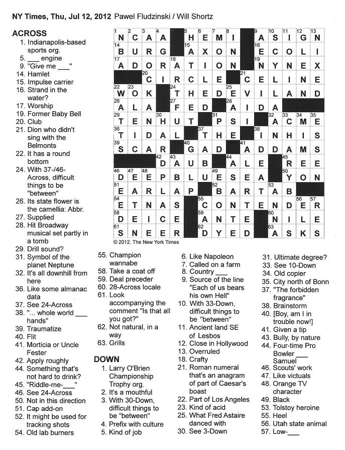 Crossword hit bottom