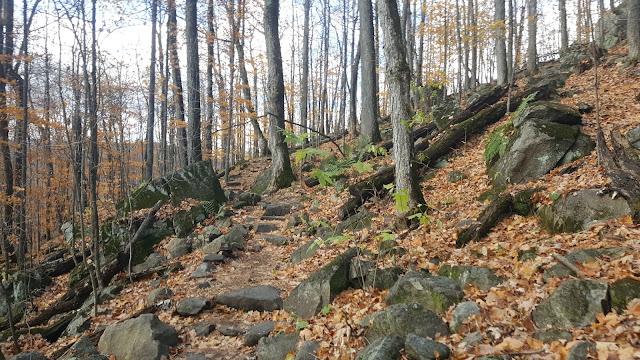 sentier des falaises à Prevost