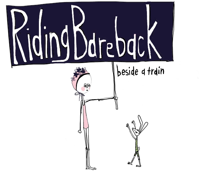 Riding Bareback Beside a Train