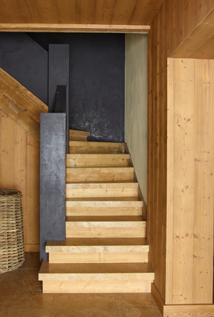 Modern luxury wood stairway minimal sophisticated interior design by Piet Boon