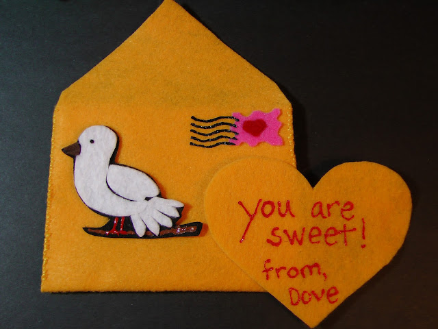 Felt Five Valentines Dove