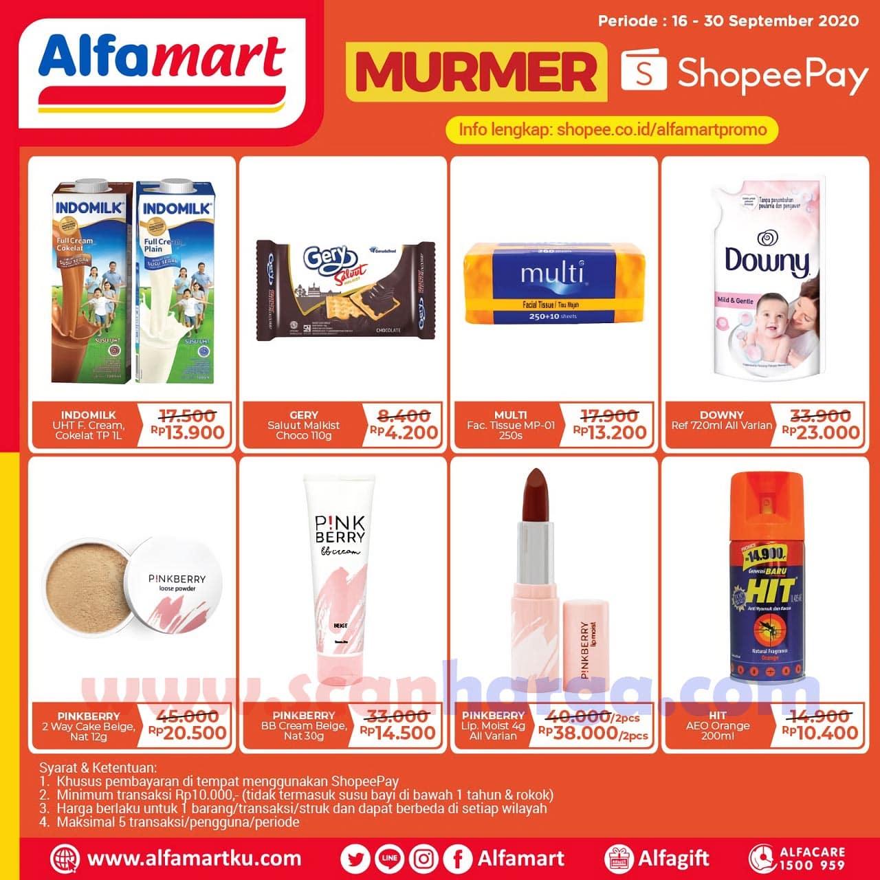 Promo Alfamart ShopeePay Murmer 16 - 30 September 2020