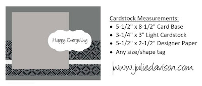 Stampin' Up! Card Layout Inspiration ~ www.juliedavison.com