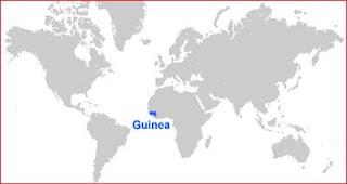 Gambar Peta letak Guinea