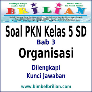 Download Soal PKN Kelas 5 SD Bab 3 Organisasi Dan Kunci Jawaban