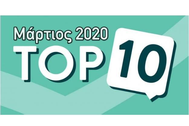 Τα 10 δημοφιλέστερα προγράμματα για τον Μάρτιο του 2020