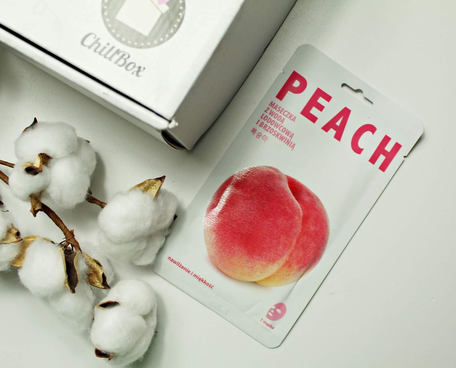Mishe Peach Iceland Glacial Water Sheet Mask (nawilżająca maseczka z wodą lodowcową i brzoskwinią)