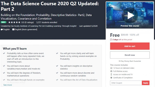 [100% Off] The Data Science Course 2020 Q2 Updated: Part 2| Worth 99,99$