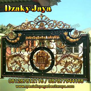 Contoh pagar klasik untuk proyek pagar tempa di Subang, Jawa Barat.