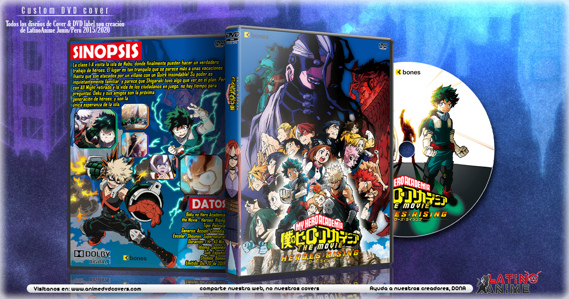 Boku no Hero Academia the Movie - Heroes: Rising | Cover DVD