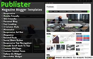 Publister Magazine Pro Blogger Template - Responsive Blogger Template
