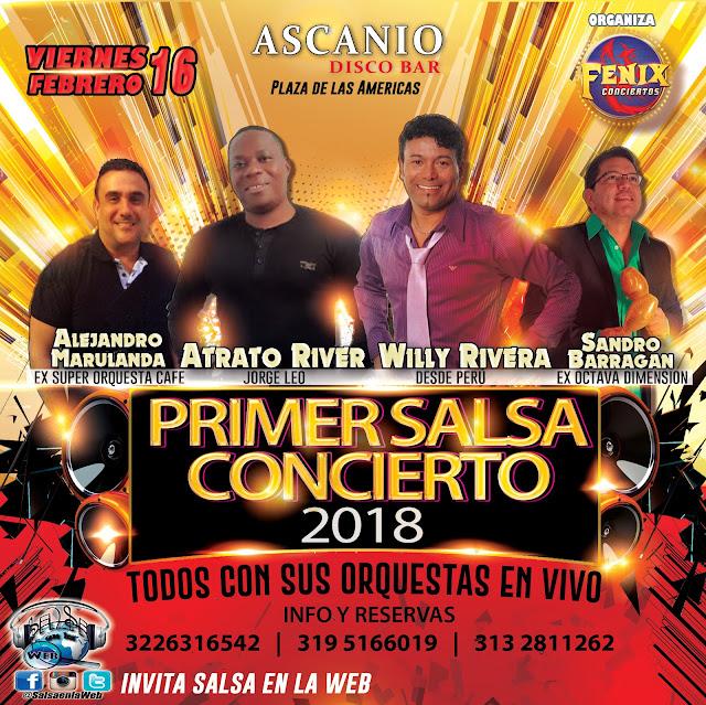 ► Willy Rivera, Atrato River, Sandro Barragan y Alejandro Marulanda en Concierto