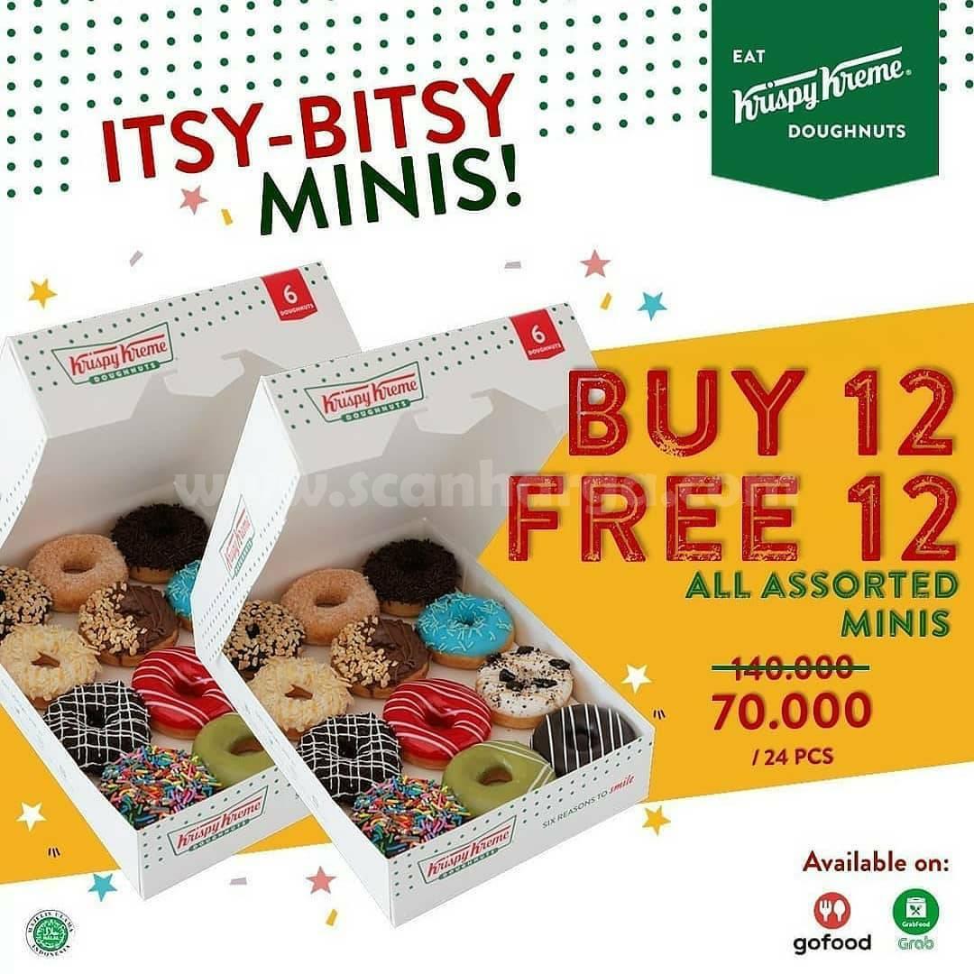 Krispy Kreme Promo Beli 12 Gratis 12 Donut Bebas Pilih cuma 70RB