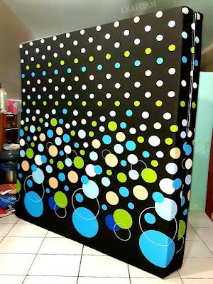 Kasur inoac motif minimalis bubble coklat