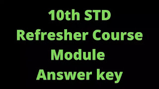 10th Social Science  Refresher Course Answer key
