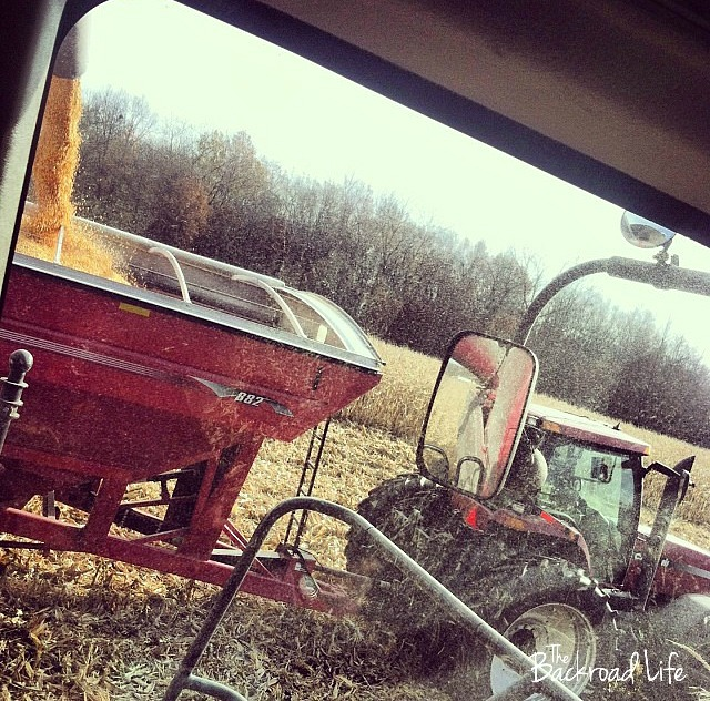 The Backroad Life: Why do farmers use an auger cart during