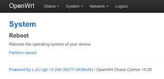 Reboot OpenWRT