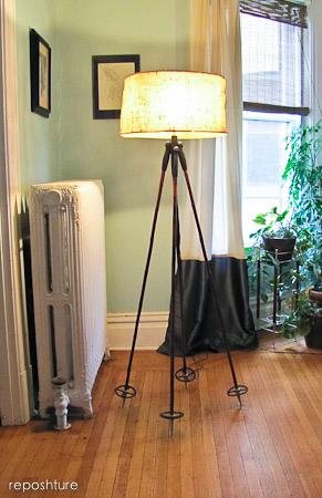 ski pole floor lamp