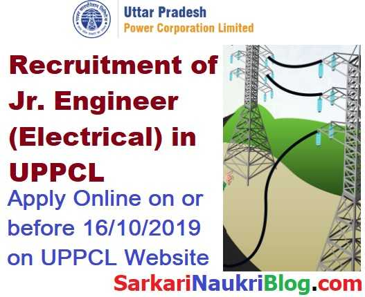 UPPCL Jr. Engineer Electrical Vacancy Recruitment 2019