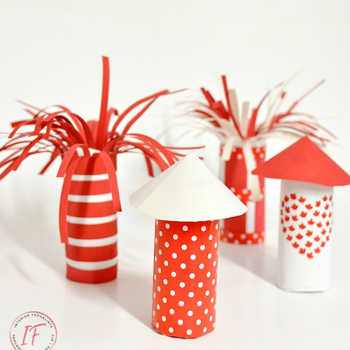 Patriotic Toilet Paper Roll Fire Starters