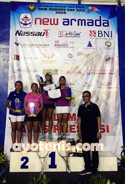 Siswi SMP Negeri 1 Singosari Malang Juara Kejurnas Tenis Yunior New Armada Cup XXIV
